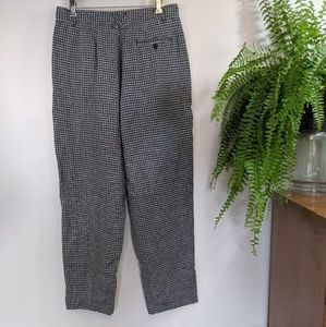 Partners Vintage Linen Cotton Plaid Pants 16